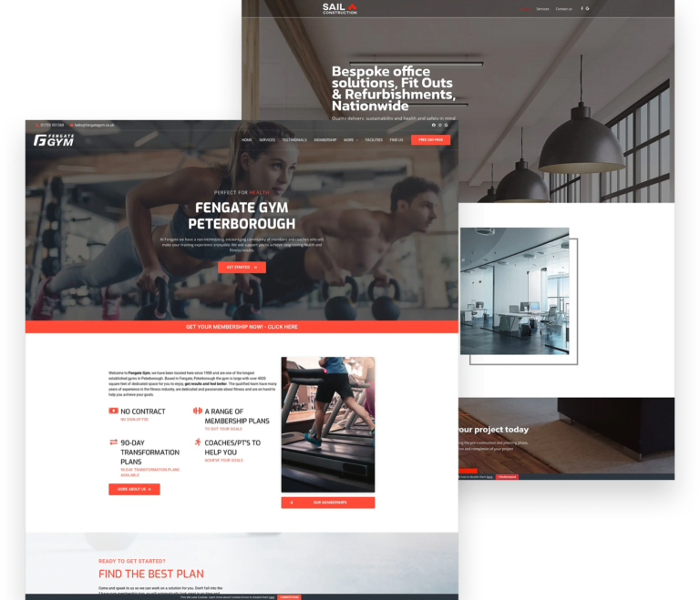 Gym and Construction Web Design Example