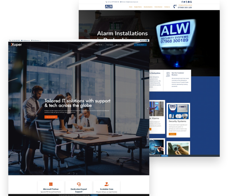 IT and Alarms Web Design Example